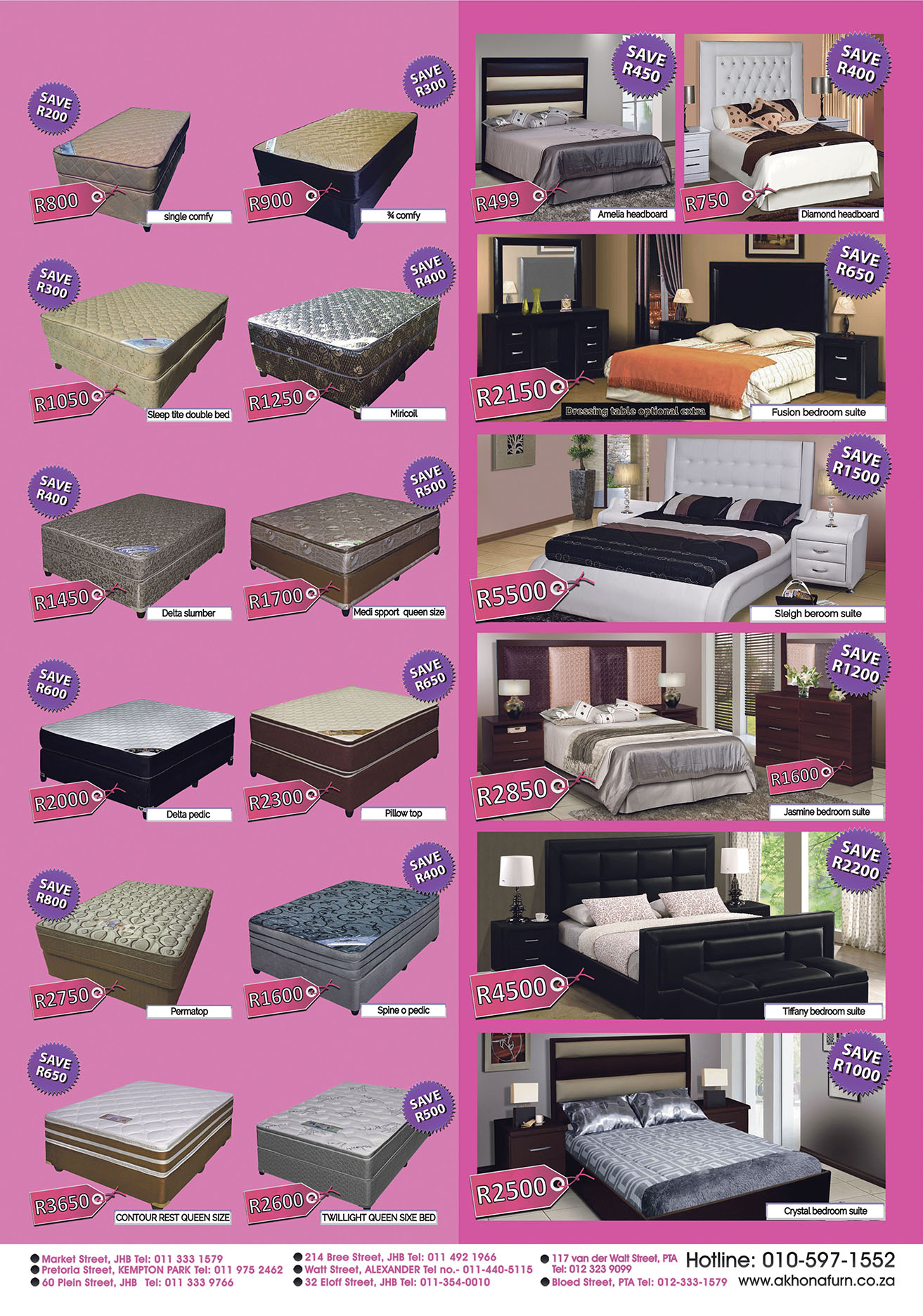 Bedroom Furniture Johannesburg promotion - akhona furnishers