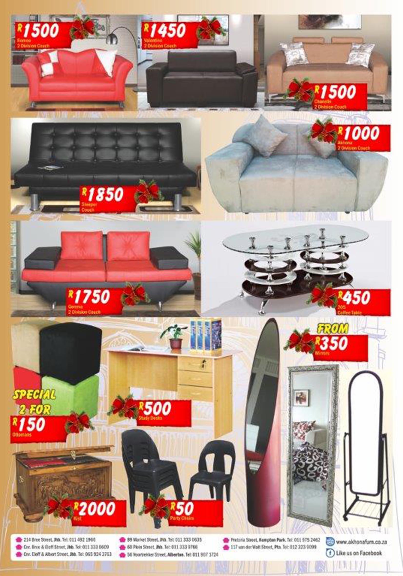 Akhona Furniture Johannesburg